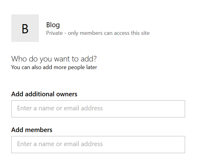 Adding members to your Office 365 Group